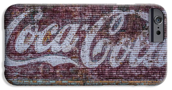Chaps iPhone Cases - Faded Coca Cola Sign iPhone Case by Paul Freidlund
