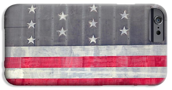 Old Glory iPhone Cases - Faded Glory iPhone Case by Art Block Collections