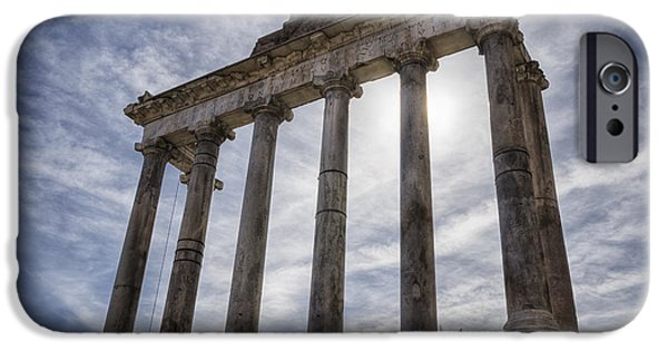 Buildings iPhone Cases - Faded Glory of Rome iPhone Case by Joan Carroll