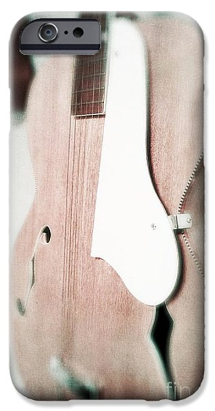 Ukelele iPhone Cases - Faded Guitars iPhone Case by Paul Cammarata