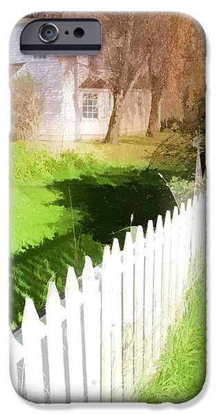 Pioneer Homes iPhone Cases - Faded Memories iPhone Case by Bonnie Bruno
