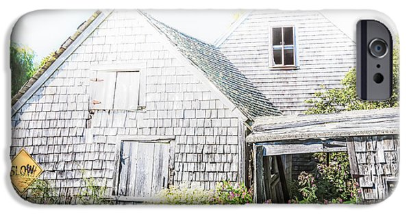 Mid-coast Maine iPhone Cases - Fading Away iPhone Case by Susan Cole Kelly Impressions