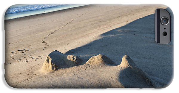 Sand Castles iPhone Cases - Fading Sand Castle iPhone Case by John Greim