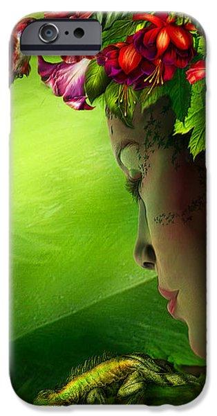 Fae In The Flower Hat iPhone Case by Carol Cavalaris
