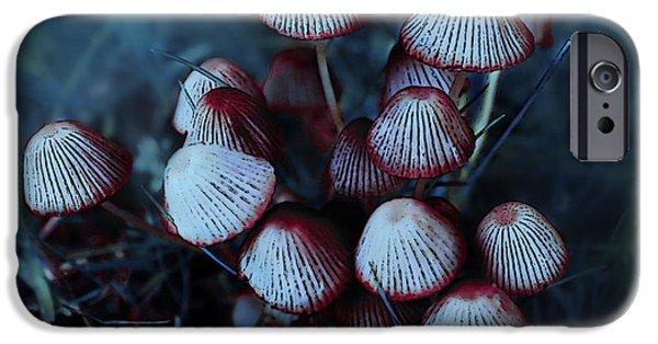 Mushroom Digital Art iPhone Cases - Faerie Houses iPhone Case by Jutta Maria Pusl