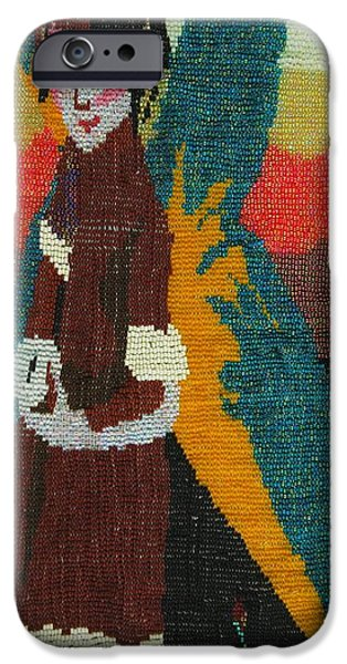Little Girl Tapestries - Textiles iPhone Cases - Faerie tales 1 iPhone Case by Rachel Rose