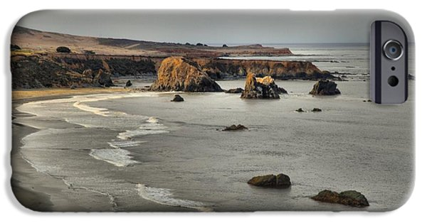 Rugged Coastline iPhone Cases - Faint Patches Of Sun iPhone Case by Adam Jewell