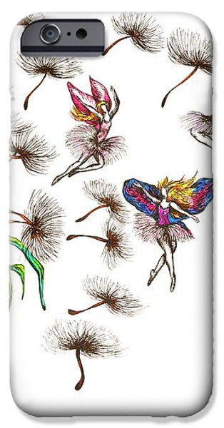 Fairies iPhone Case by Karen Sirard