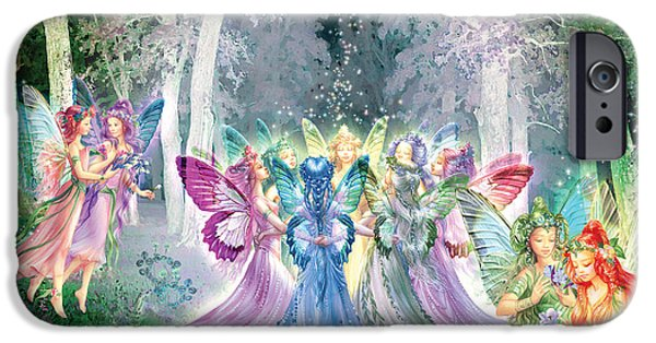 Gathering Photographs iPhone Cases - Fairies Song iPhone Case by Zorina Baldescu