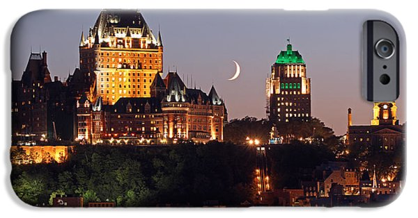 Canada Photograph iPhone Cases - Fairmont Le Chateau Frontenac iPhone Case by Juergen Roth