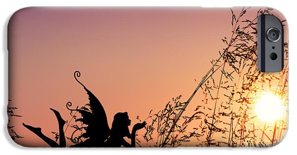 Faries iPhone Cases - Fairy at the bottom of the Garden iPhone Case by Tim Gainey
