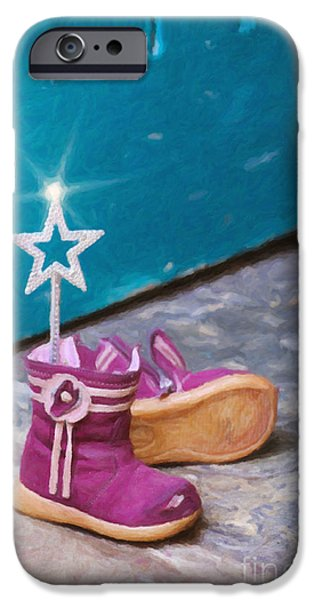 Fairy at the Door  iPhone Case by Tim Gainey