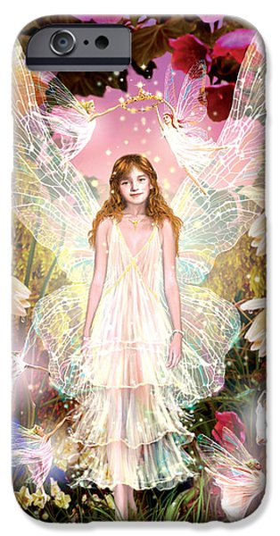 Fantasy Photographs iPhone Cases - Fairy Crowning iPhone Case by Garry Walton