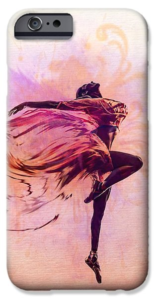 Ballet Dancers iPhone Cases - FAiry Dance iPhone Case by Lilia D
