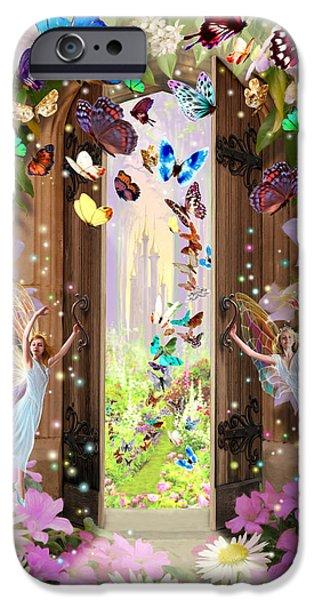 Fantasy Photographs iPhone Cases - Fairy Door iPhone Case by Garry Walton