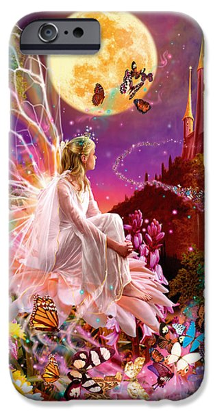 Fairy iPhone Cases - Fairy Dream Variant 2 iPhone Case by Garry Walton