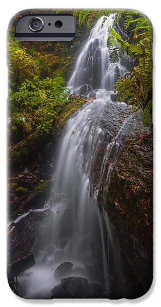 Autumn iPhone Cases - Fairy Falls Unique View iPhone Case by Vishwanath Bhat