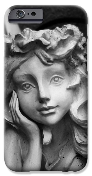 Love Sculptures iPhone Cases - Fairy In The Garden iPhone Case by Nathan Little