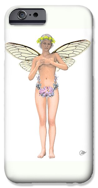 Tinker Bell iPhone Cases - Tinker Bell modernist iPhone Case by Joaquin Abella