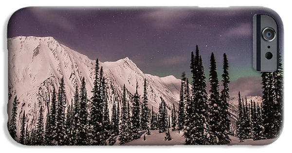 Northern Lights iPhone Cases - Fairy Meadows Northern Lights iPhone Case by Ian Stotesbury
