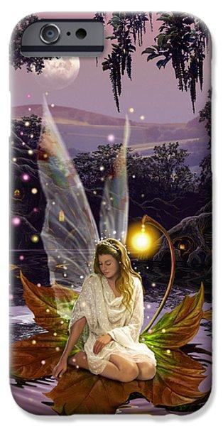 Vertical Flight iPhone Cases - Fairy Princess iPhone Case by Garry Walton