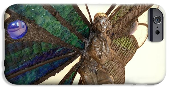 Angel Glass Art iPhone Cases - Fairy Queen iPhone Case by Samantha  Calder