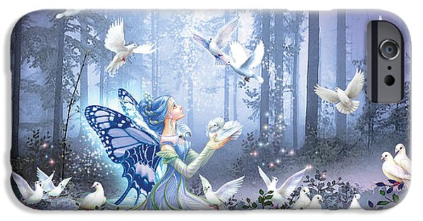 Forest iPhone Cases - Fairy Queen iPhone Case by Zorina Baldescu