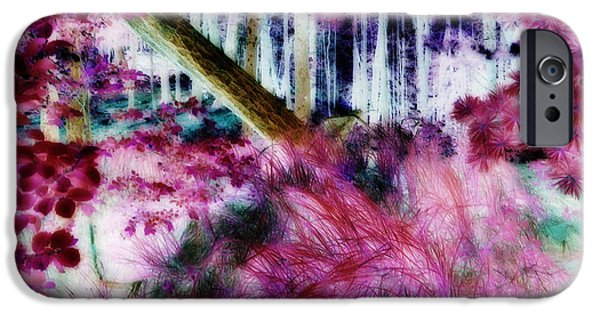 Pines iPhone Cases - Fairy Tropicolor iPhone Case by Jamie Lynn