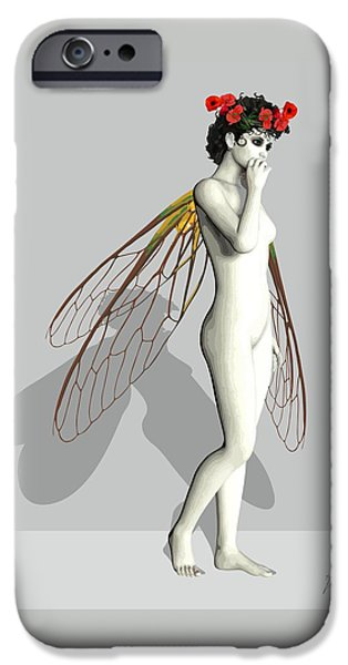Tinker Bell iPhone Cases - Fairy White by Quim Abella iPhone Case by Joaquin Abella