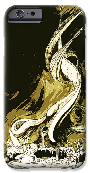Printmaking iPhone Cases - Fee iPhone Case by Julio R Lopez Jr