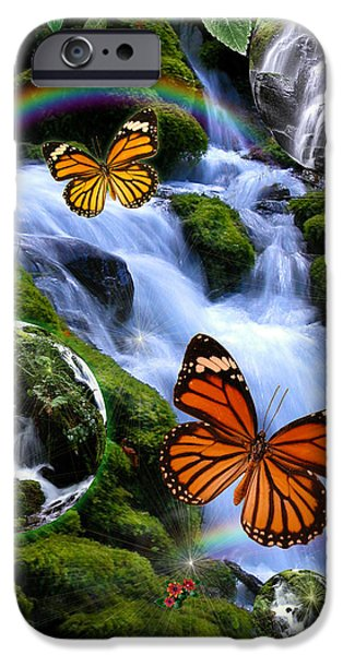 Fantasy iPhone Cases - Fairyland Falls iPhone Case by Alixandra Mullins