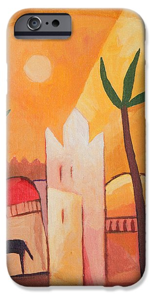 Recently Sold -  - East Village iPhone Cases - Fairytale Village iPhone Case by Lutz Baar