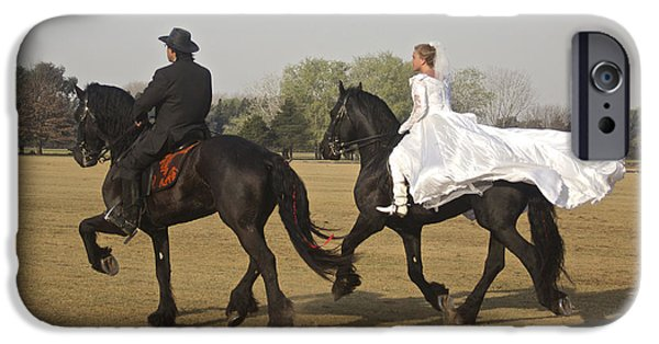 Horse iPhone Cases - Fairytale Wedding iPhone Case by Venetia Featherstone-Witty