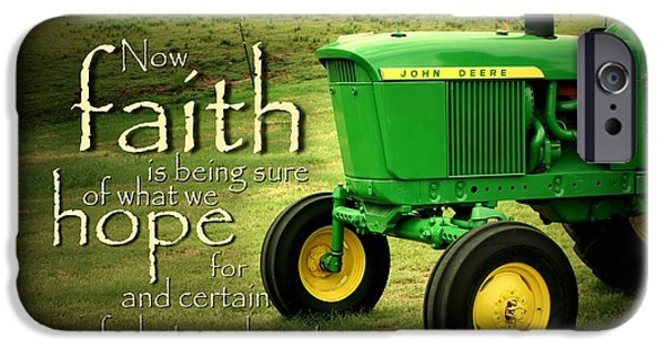 Farm iPhone Cases - Faith and Hope iPhone Case by Linda Fowler