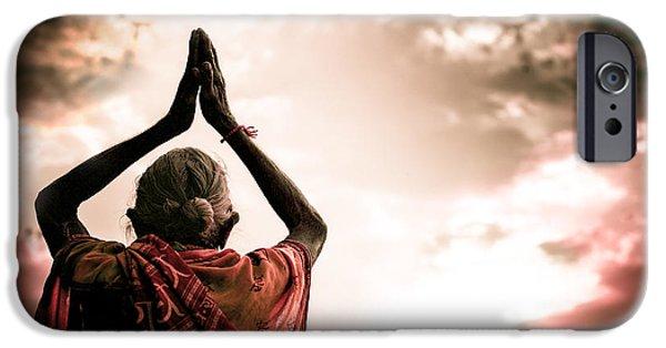 Saint Hope iPhone Cases - Faith and Prayers for Peace iPhone Case by Nila Newsom