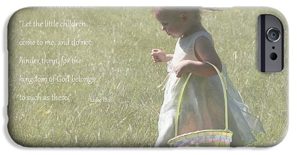 Innocence iPhone Cases - Faith of a Child iPhone Case by Angie Vogel