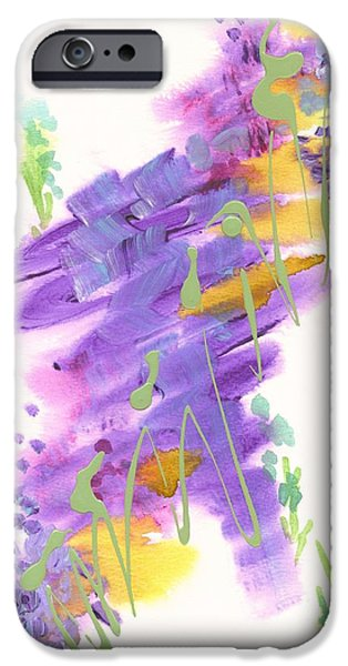Free Form Paintings iPhone Cases - Faith the Final Frontier iPhone Case by Holly Carmichael