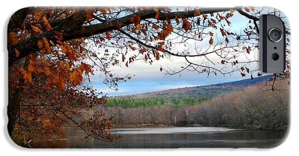 Androscoggin iPhone Cases - Fall Approaching iPhone Case by Mike Breau