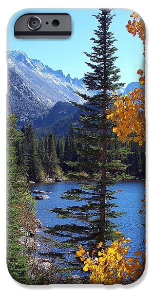 Fort Collins Photographs iPhone Cases - Fall at Bear Lake iPhone Case by Tranquil Light  Photography