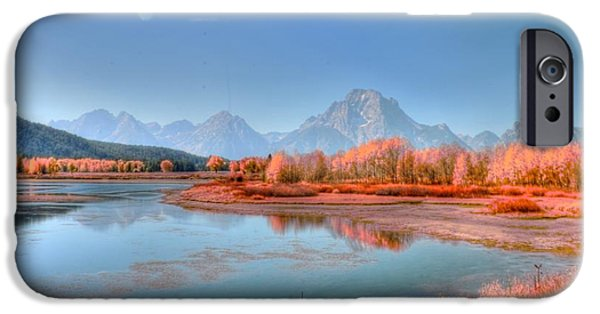 Struckle iPhone Cases - Fall At OxBow Bend iPhone Case by Kathleen Struckle