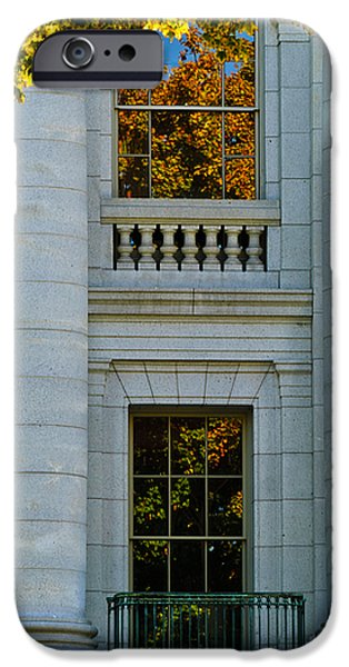 Fall at the Capitol iPhone Case by Christi Kraft