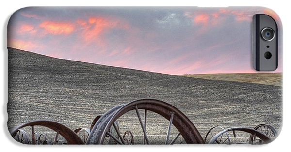 Contour Plowing iPhone Cases - Fall at the Dahman Barn iPhone Case by Doug Davidson