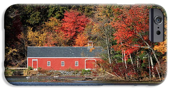 Sudbury Ma iPhone Cases - Fall at the Mill iPhone Case by Jayne Carney