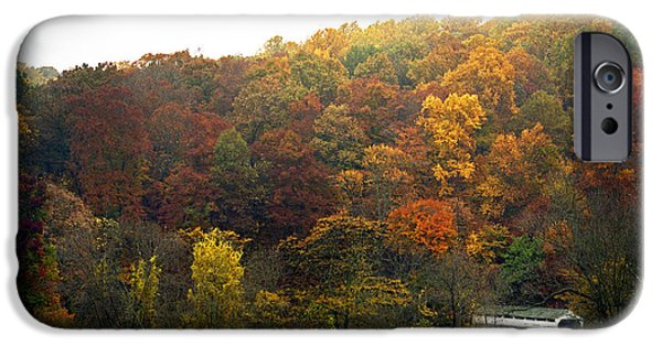 Covered Bridge iPhone Cases - Fall At Valley Forge iPhone Case by Skip Willits