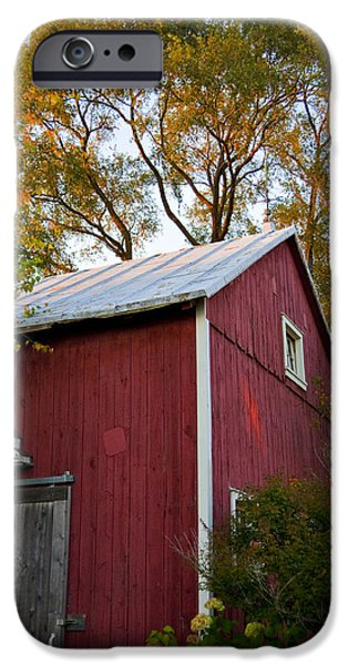 Barns iPhone Cases - Fall Barn iPhone Case by Jeff Klingler