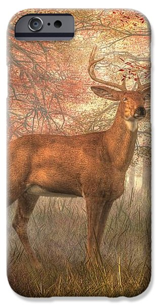 Fall Buck iPhone Case by Daniel Eskridge