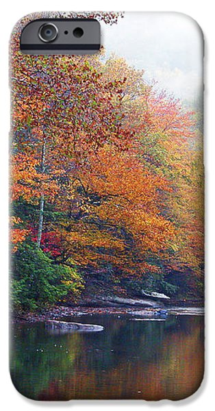 Fall Color Williams River iPhone Case by Thomas R Fletcher