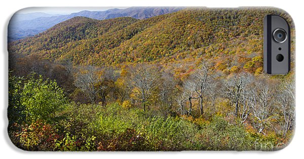 Blue Ridge Parkway iPhone Cases - Fall Colors Blue Ridge Parkway NC iPhone Case by Dustin K Ryan
