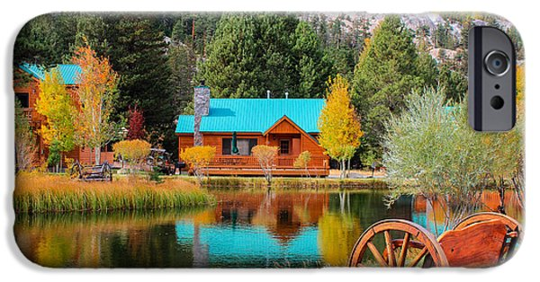 Autumn iPhone Cases - Fall Colors in June Lake iPhone Case by Andrea Shuttleworth