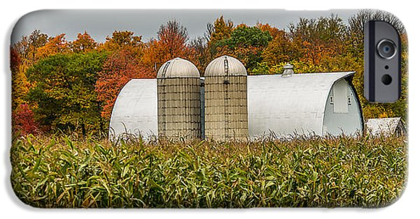 Harvest Time iPhone Cases - Fall Colors On A Farm iPhone Case by Paul Freidlund